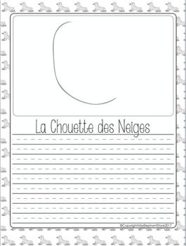 Janvier Journal Prompts Bonne Année Chouette des Neiges
