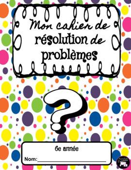 Janvier: Mon cahier de résolution de problèmes