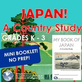 Japan! A Country Study K - 3 Introduction - Mini Booklet Ready to Print No Prep