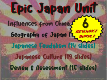 Japan!!! (ALL 5 parts) visual, engaging 81-slide PPT UNIT w guided notes