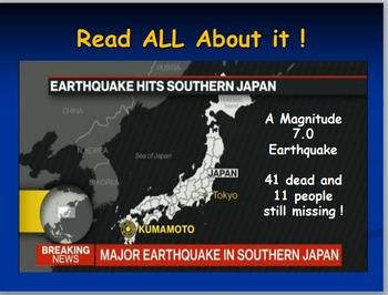 Japan: April 2016 Earthquake Internet Activity