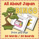 Japan and Japanese Culture BINGO & Memory Matching Card Game