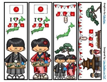 Japan Bookmarks -  4 Designs