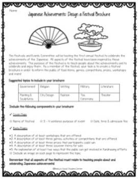 Medieval Feudal Japan Unit Activities