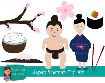 Japan Clip Art Set!16 PNG Images {Personal & Commercial Use}