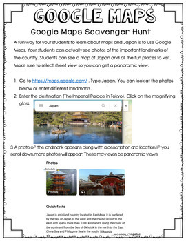 Japan Country Study | Informational Text PowerPoint, Brochure, Google Maps™