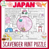 Japan Country Study Scavenger Hunt Puzzle Poster