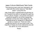 Japan Culture WebQuest Task Cards