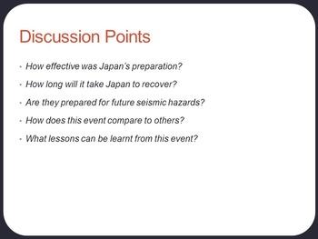 Japan Earthquake and Tsunami Lesson