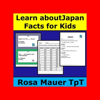 Japan Task Cards