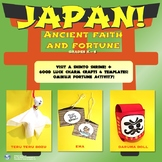 Japan! Ancient Faith & Fortune Lesson | 3 Good Luck Charm Crafts | Activities