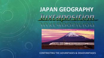 Japan Geography Juxtaposition Art Activity - compare advan