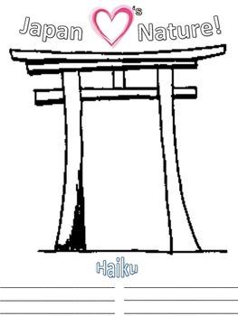 Japan Haiku Writing - Torii Gate Drawing - Japan Hearts Nature