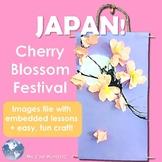 Japan! Hanami, Cherry Blossom Festival - Lesson & Sakura Scroll Craft