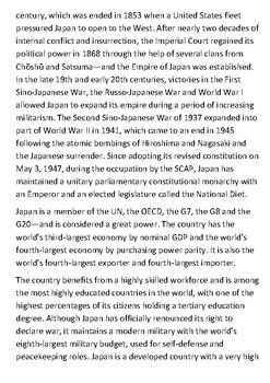 Japan Handout