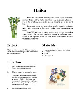 Japan, Hands-On Activities and Worksheets
