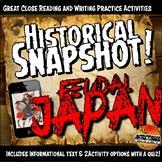 Japan Historical Snapshot Close Reading Investigation Activity and Quiz
