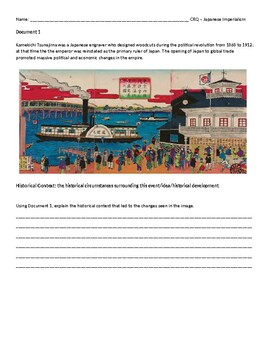 Japan Imperialism Unit - worksheets, activities, CRQ, exit tickets