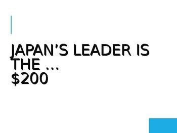 Japan Jeopardy