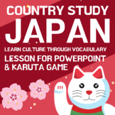 JAPAN Country Study: Culture, Vocabulary, Powerpoint, Printables, Game
