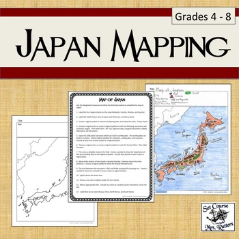 Japan Mapping (includes instructions, map, sample)