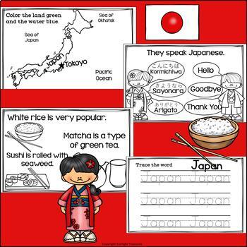 Japan Mini Book for Early Readers - A Country Study