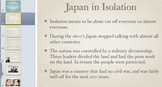 Japan Modernizes (Isolation, Commodore Perry, Meiji Era, J