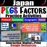 Japan PEGS Factors Interactive, Digital Lesson for Google Classroom
