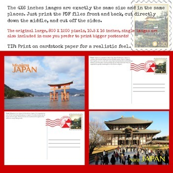 JAPAN - Postcard Writing Activity