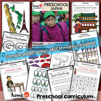 Japan - Weekly Unit for Preschool, PreK or Homeschool Preschool
