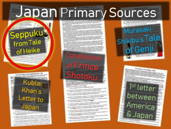 Japan Primary Source - Seppuku Primary Source from Tales of Heike (w guiding Qs)