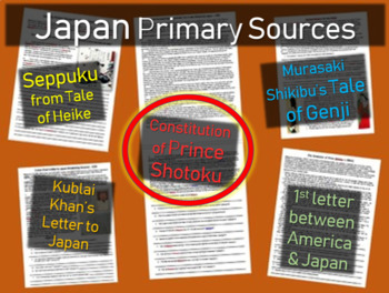 Japan Primary Source - The Constitution of Prince Shotoku (w guiding questions)