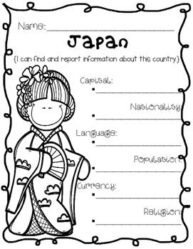 Japan {Research / Creative Writing / Word Work}