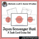 Japan Scavenger Hunt Task Cards Game for Review - Geography, Facts, More
