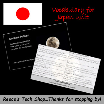 Japan Stations - Vocabulary, Maps, Folktales, Oh My!
