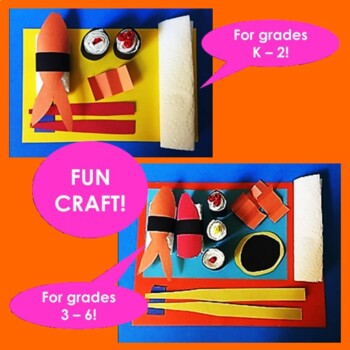 Japan! Sushi - Lesson & Fun Sushi Making Craft with Paper