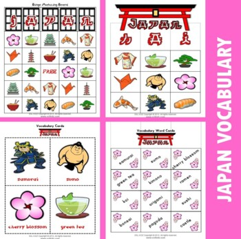 Japan Themed Bingo / Matching Activities