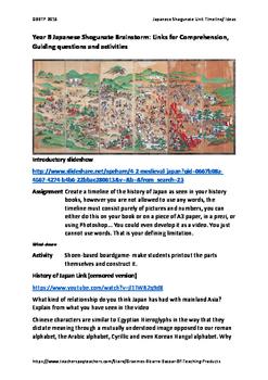 FREE Japan Under the Shoguns: links, questions, Activity, Assessment ideas