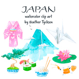 Japan Clipart Travel Clipart Japanese Note Card Mountain Clipart Asian Clipart