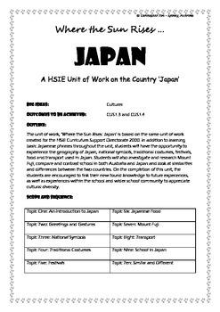 Japan ... Where the Sun Rises