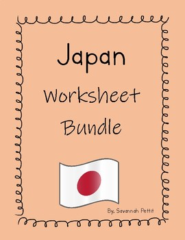 Japan Worksheet Bundle