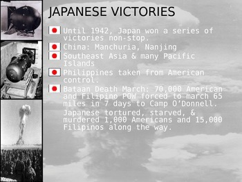 Japan and The U.S. Face Off! (The end of WWII) with Student handout