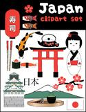 Japan clipart set