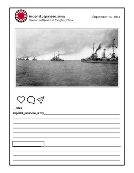 Japan's Path to WWII Instagram Activity