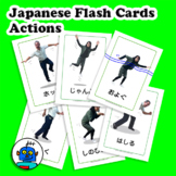 Japanese Actions Flash Cards - Action Vocabulary, Japanese