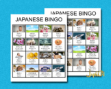 Japanese Adjectives Learning with Pictures – Bingo Cards #28