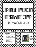 Japanese American Internment Camp Crossword Puzzle