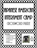 Japanese American Internment Camp Crossword Puzzle