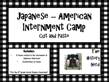 Japanese American Internment Camp Interactive Notebook Activity