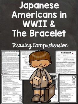 Paired Reading Comprehension Bundle Japanese American Internment WWII